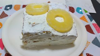 20210331_パインとクリームのチーズケーキ《自作ケーキ》【ケーキ大人食い】.jpg